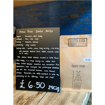 Roast of the Week - Costa Rica Santa Anita (Paper Filter Ground) (250g)